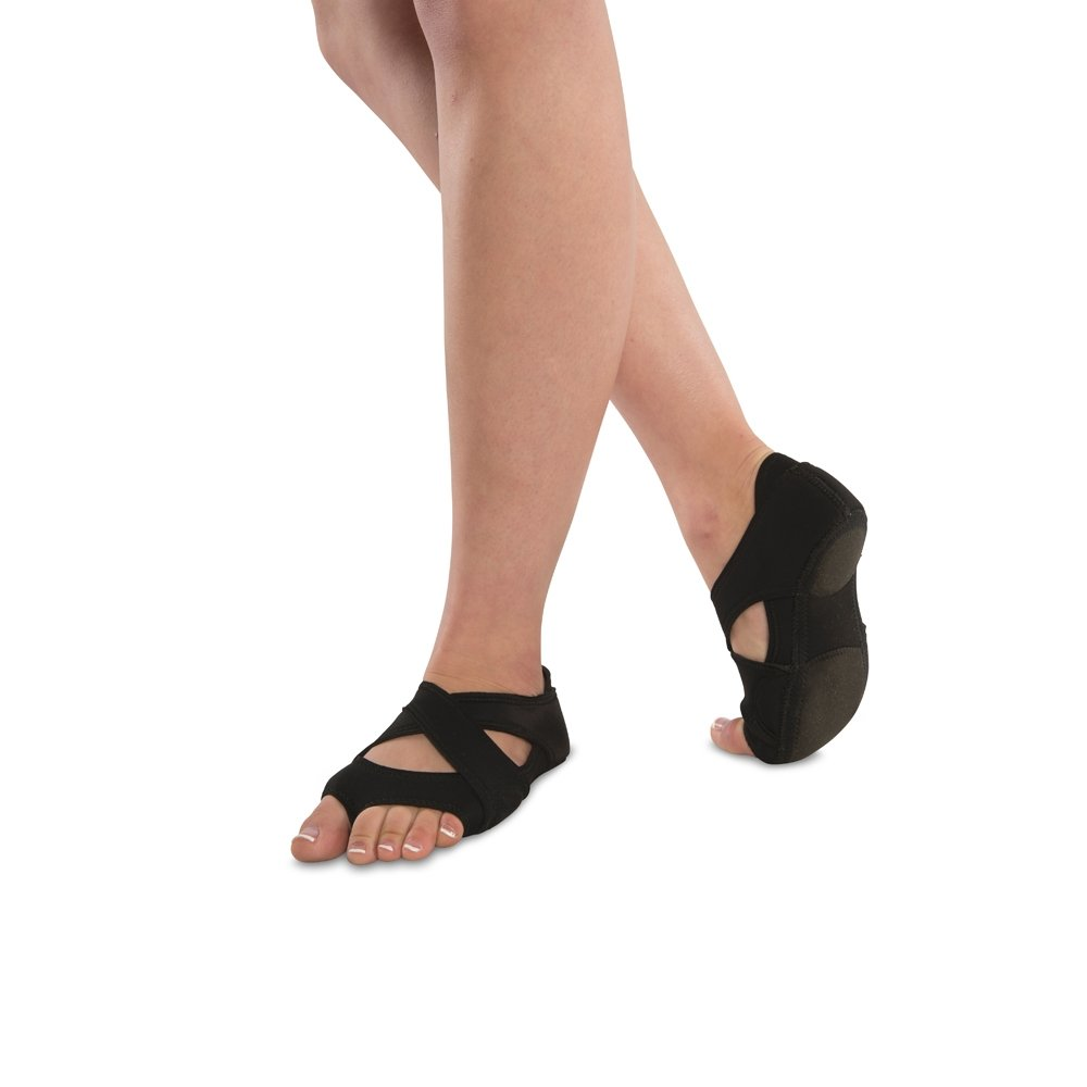 Danshuz Black Neoprene Cross Wrap Half Sole