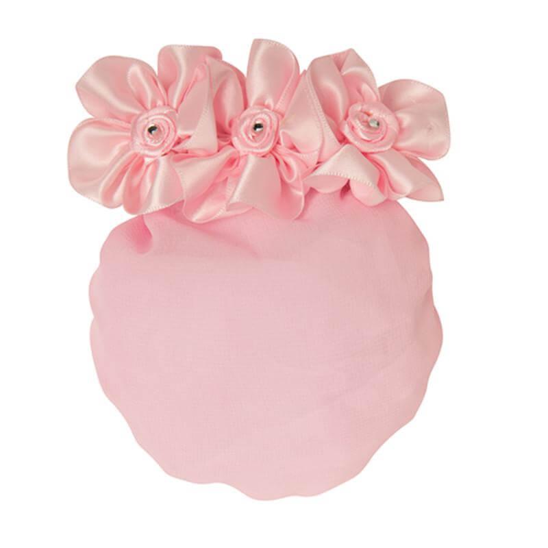 Danshuz Pink 3 Flower Chiffon Snood