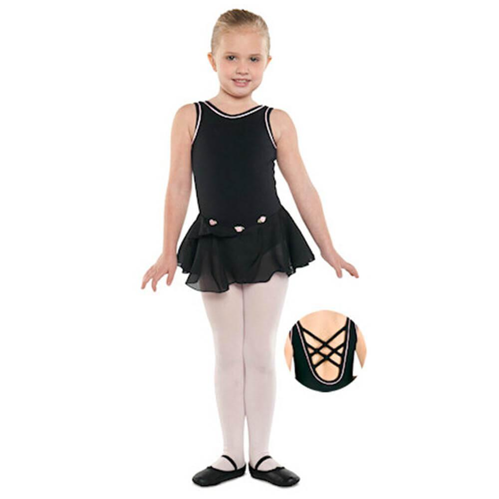 Danshuz Child Tank Dress W/ Piping