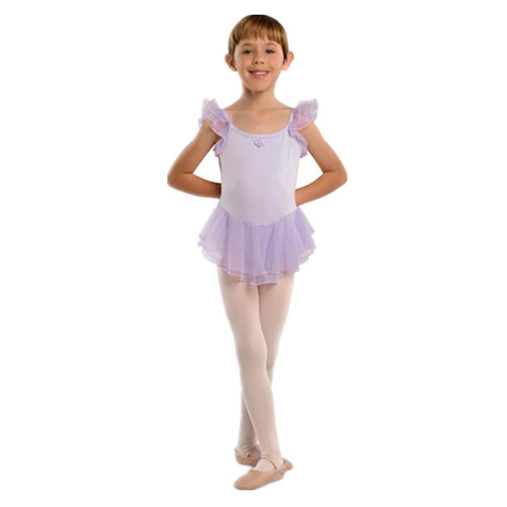 Danshuz Child Chiffon Flutter Sleeve Dress