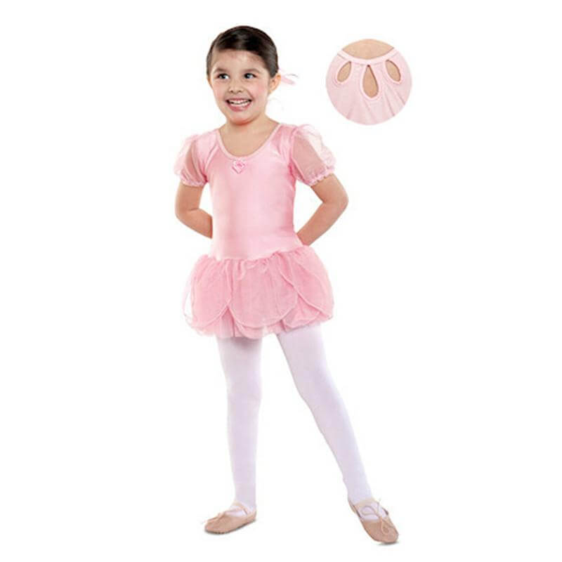Danshuz Child Puff Short Sleeve Dress