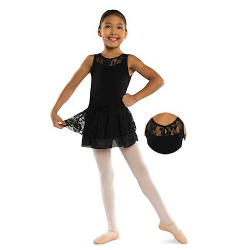 Danshuz Child Tank Dress with Lace Accent