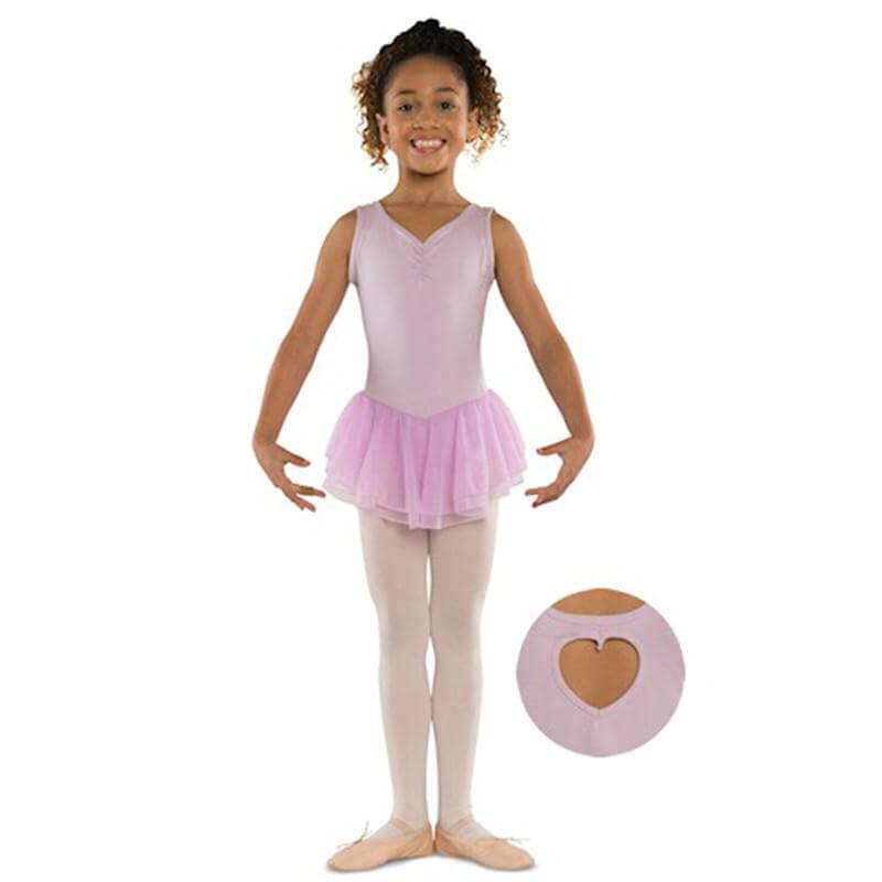 Danshuz Child Tank Dress w/ Heart Cutout on Back