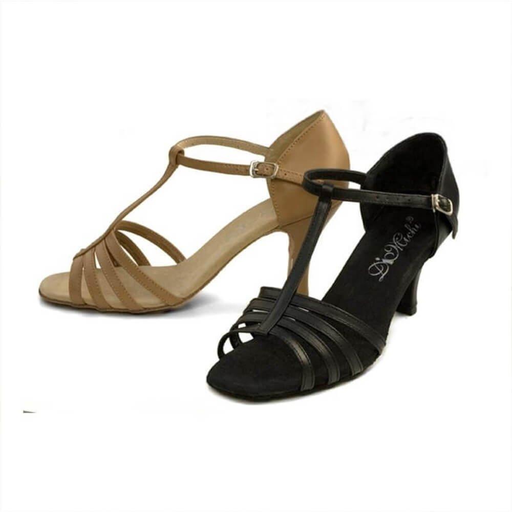 Dimichi Adult Kiki Leather Multi-strap Open-toe Ballroom Shoe