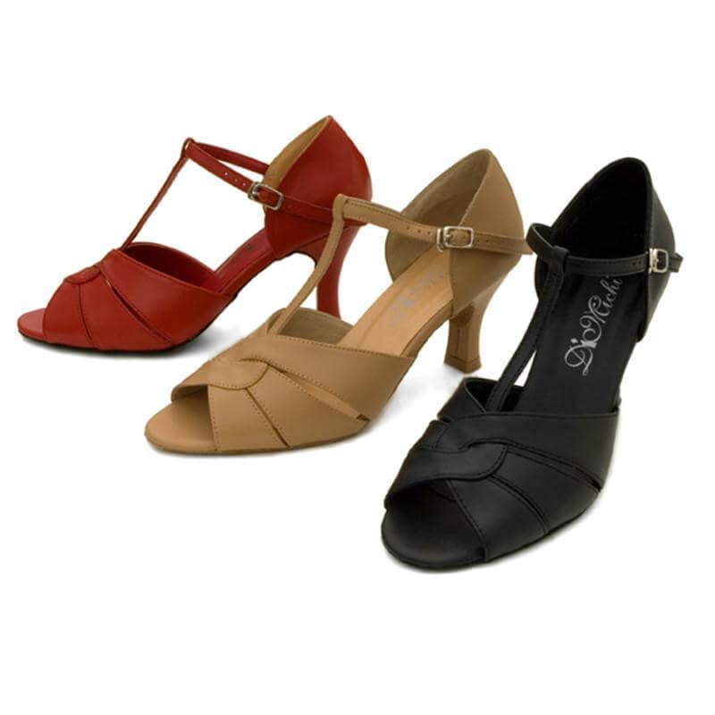 Dimichi Adult Desiree 2 1/2 Heel Leather Open-toe Ballroom Shoe