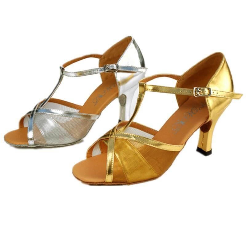 Dimichi Adult Celine Mesh Open-toe Ballroom Shoe