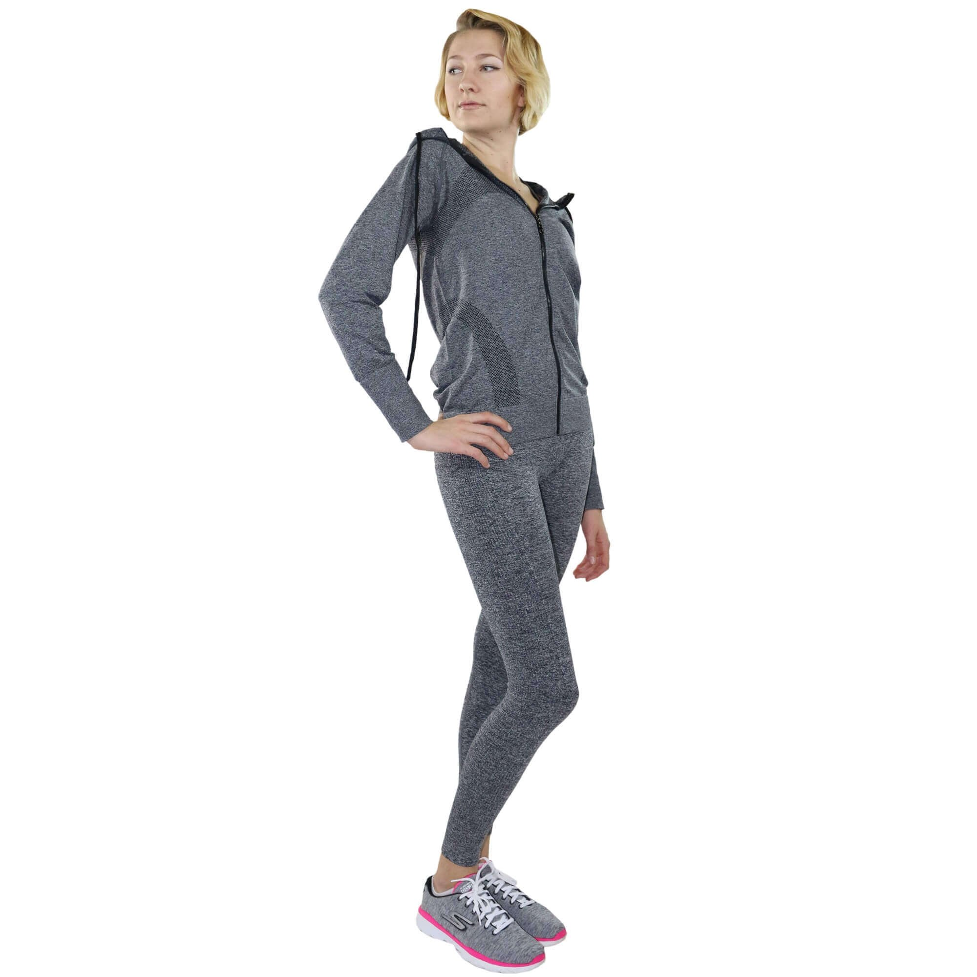 Fitcue Womens Full Zip Workout Hoodie