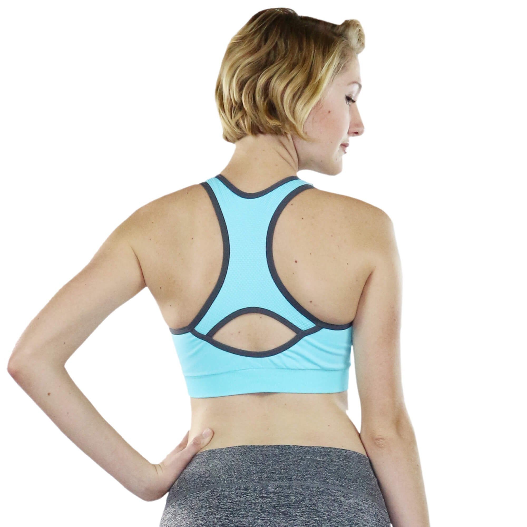 Fitcue Womens Active Racerback Sports Bra