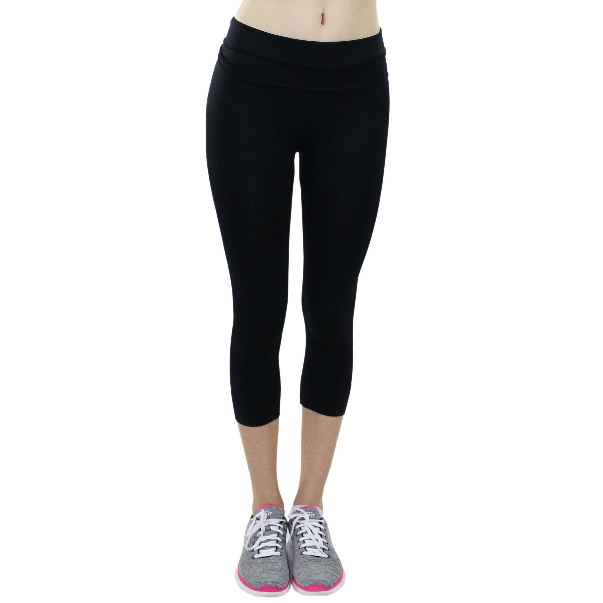 Fitcue Womens High Waist Actuve-fit Sports Capri