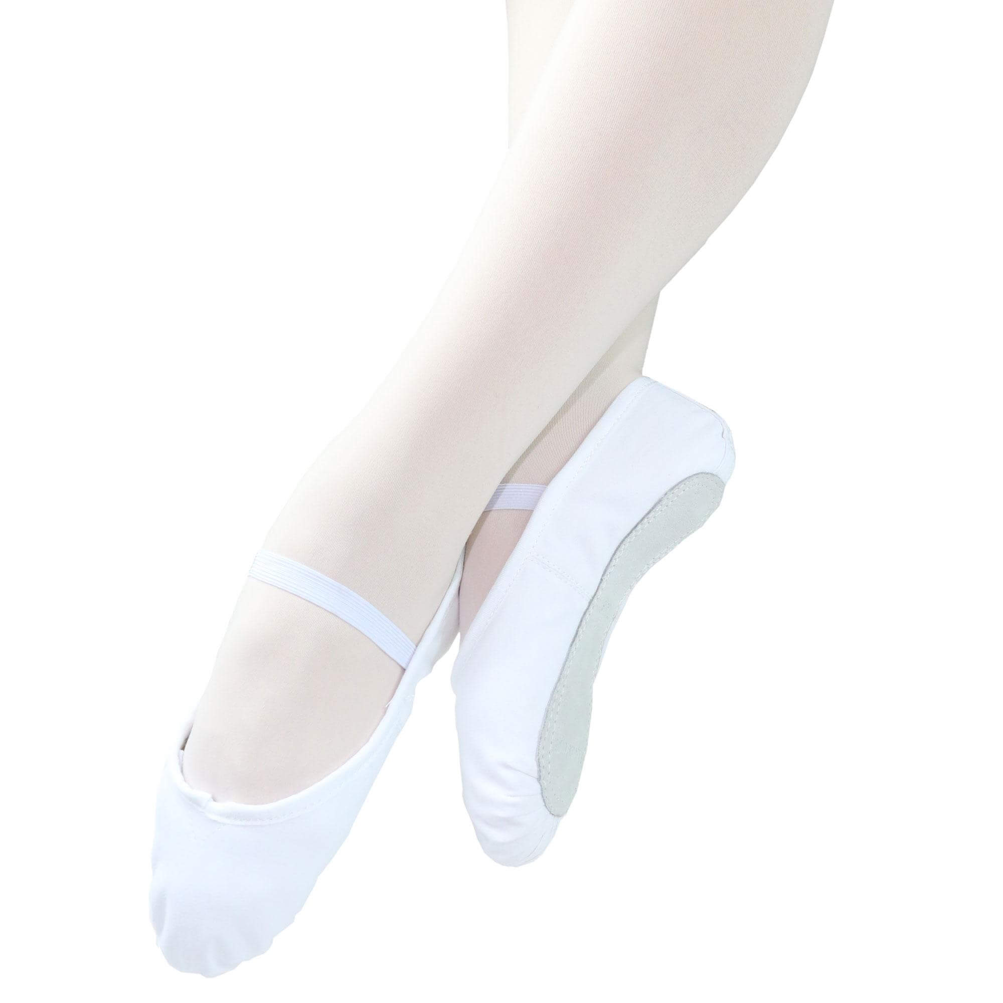 Danzcue Adult Full Sole Canvas Ballet Slipper