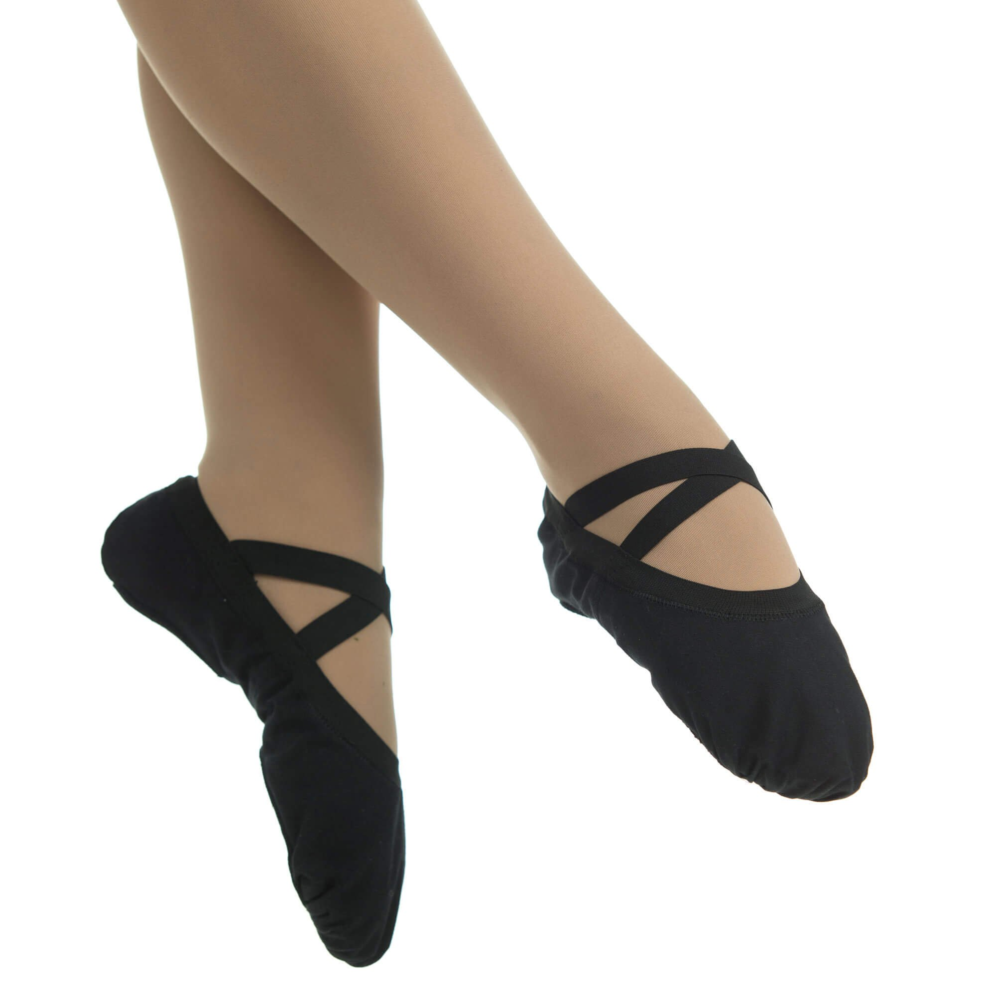 Danzcue Adult Canvas Pro Elastic Split Sole Ballet Slipper