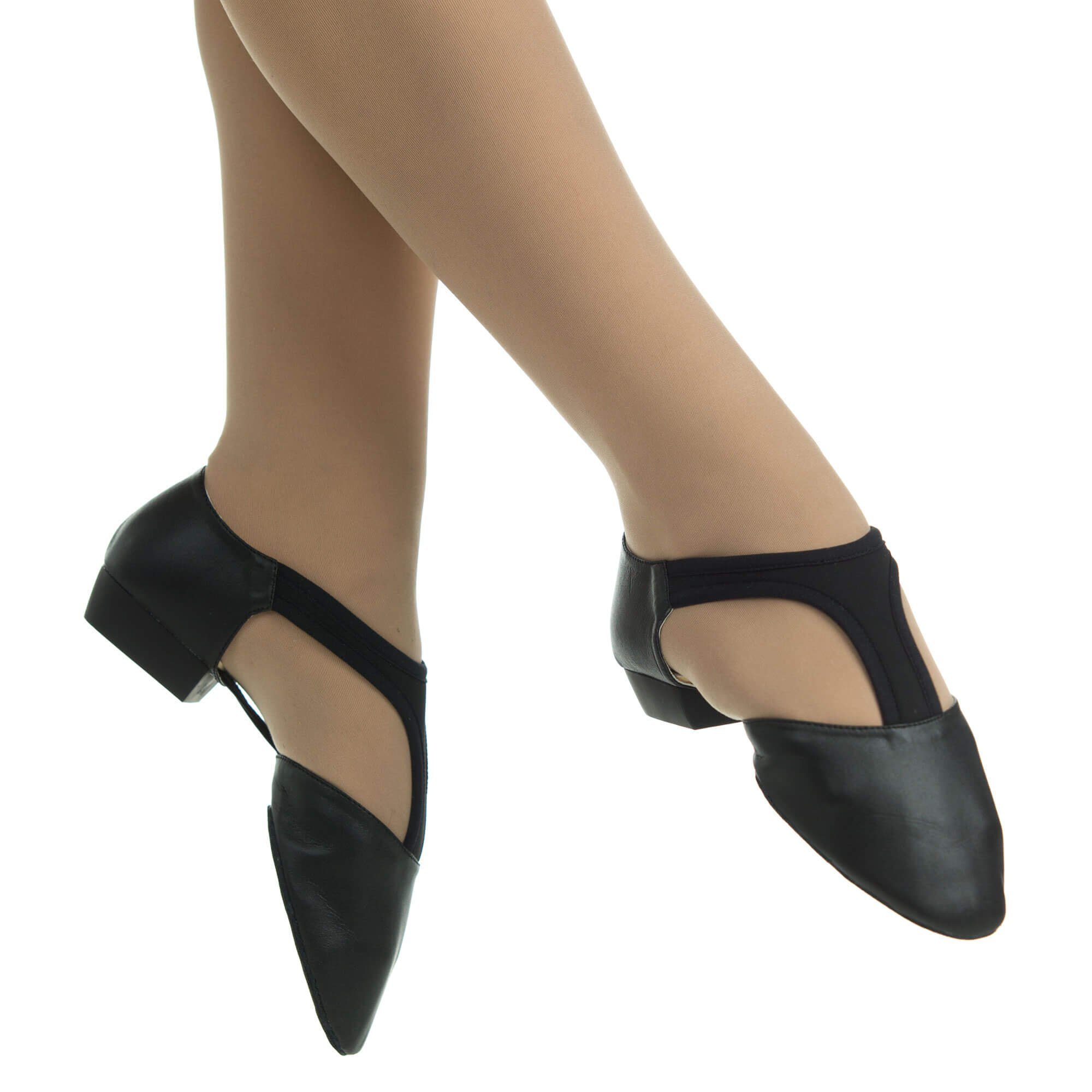 Danzcue Adult Leather Grecian Sandal Dance Shoes