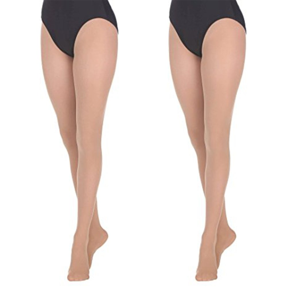 Danzcue 2 Pairs Womens Ultrasoft Stretch Convertible Tights