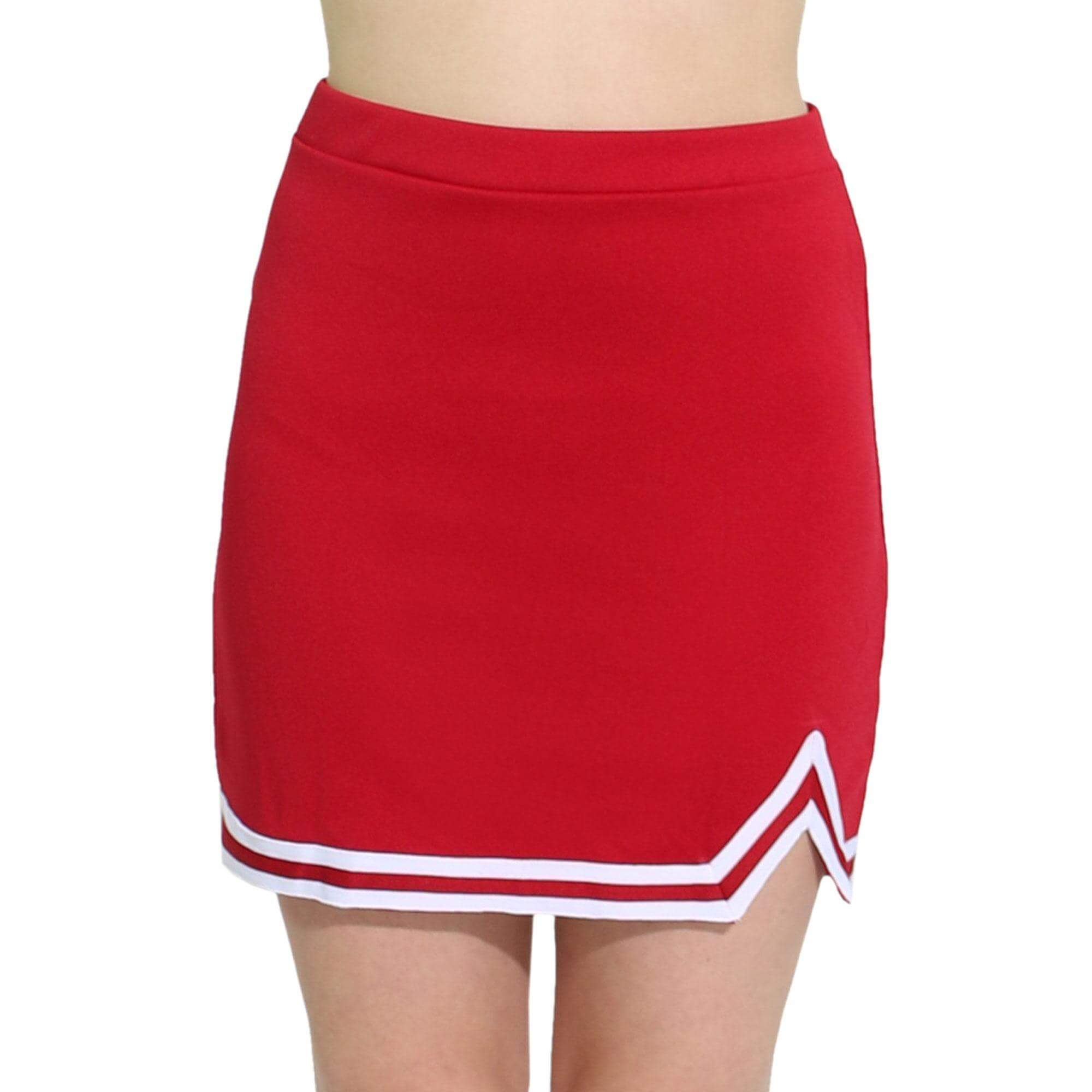 Danzcue Adult Double V A-Line Cheerleaders Uniform Skirt