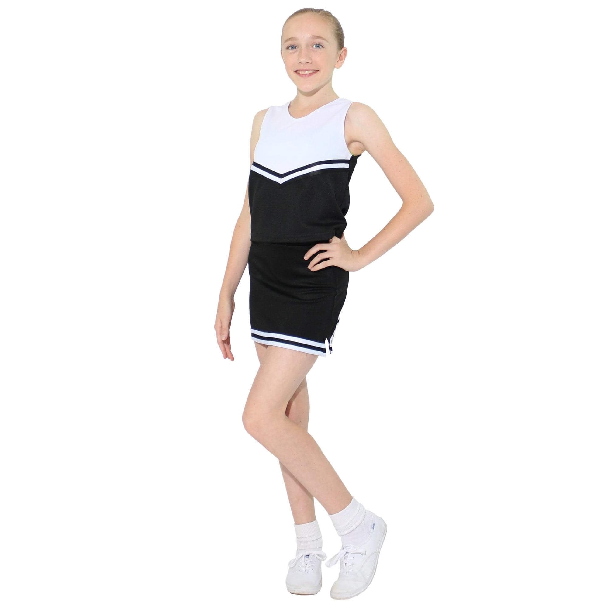 Danzcue Child V-Neck Cheerleaders Uniform Set