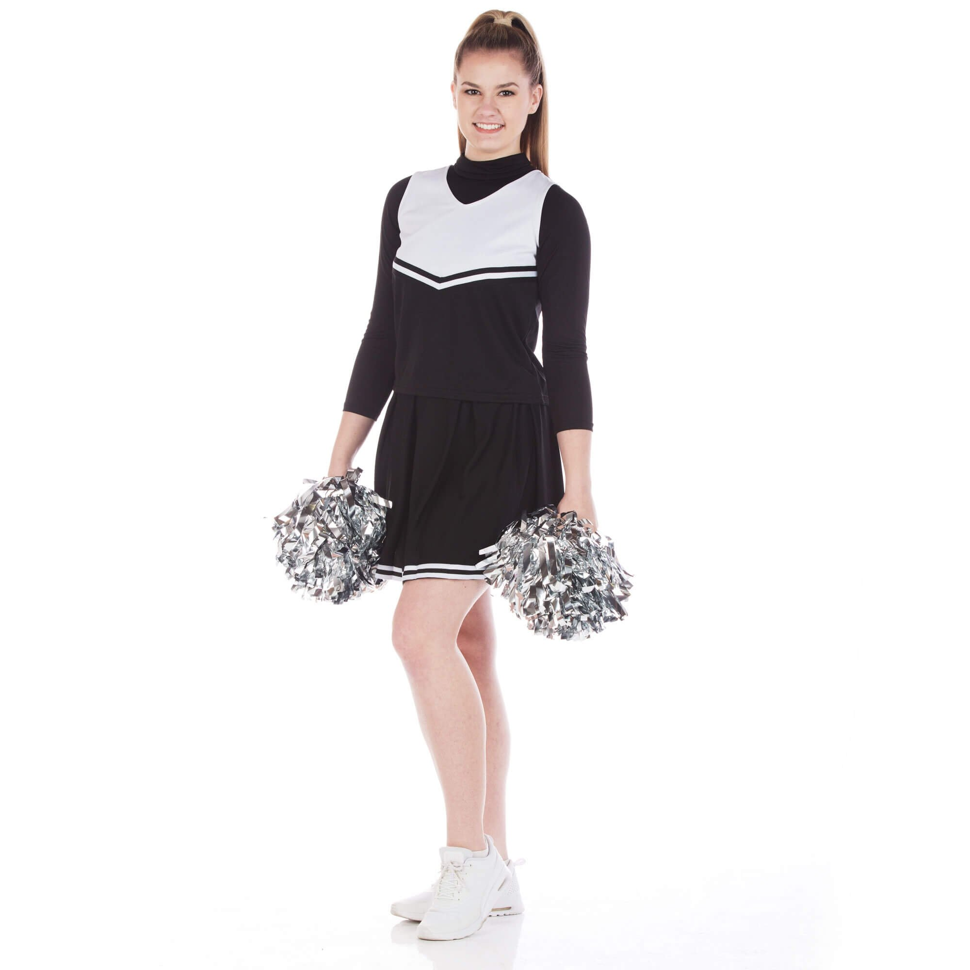 Danzcue Adult V-Neck Knit Pleat Skirt Cheerleaders Uniform Set