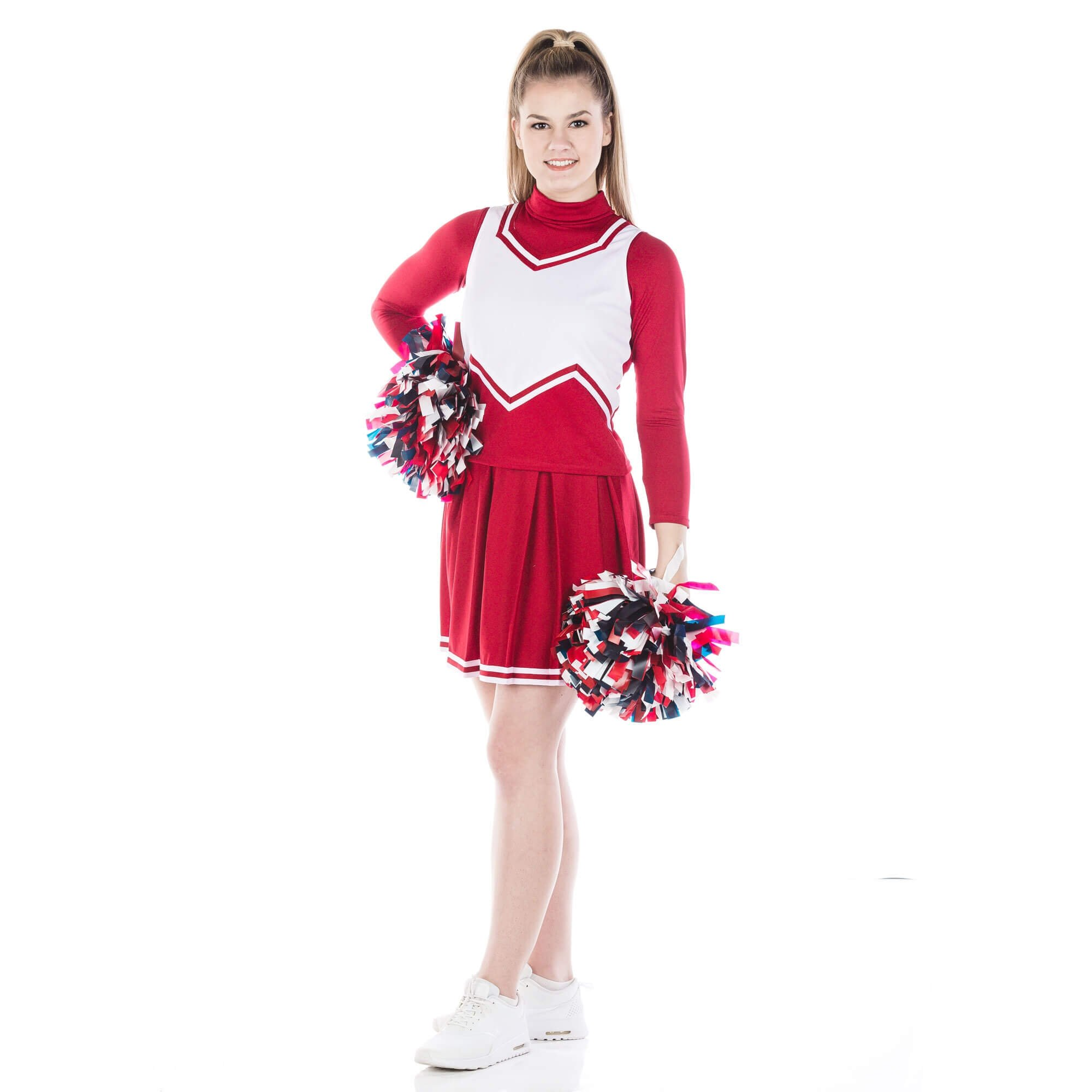 Danzcue Adult M Sweetheart Knit Pleat Skirt Cheerleaders Uniform Set