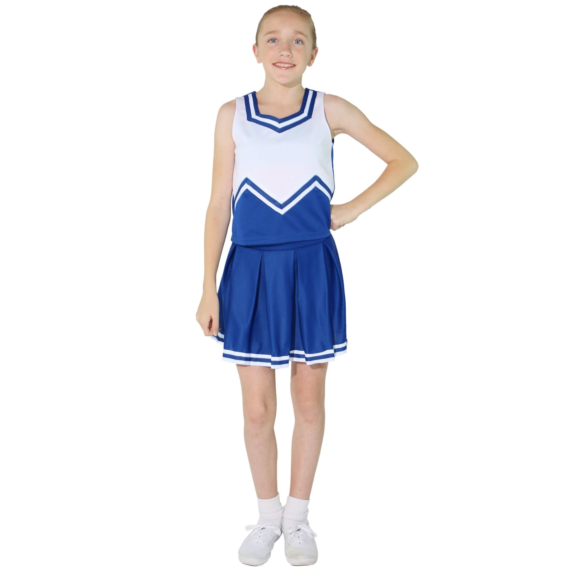Danzcue Child M Sweetheart Knit Pleat Skirt Cheerleaders Uniform Set