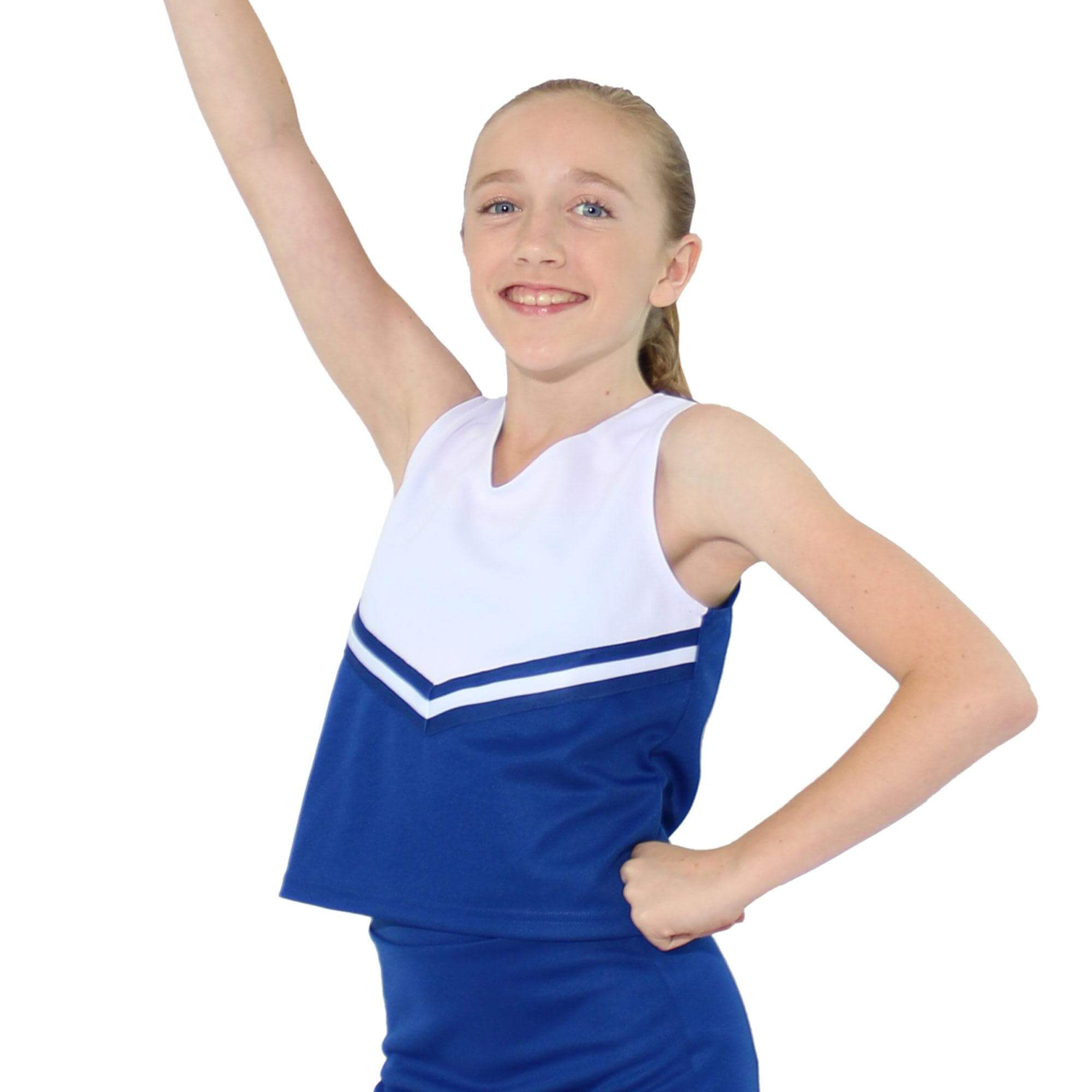 Danzcue Child V-Neck Cheerleaders Uniform Shell Top
