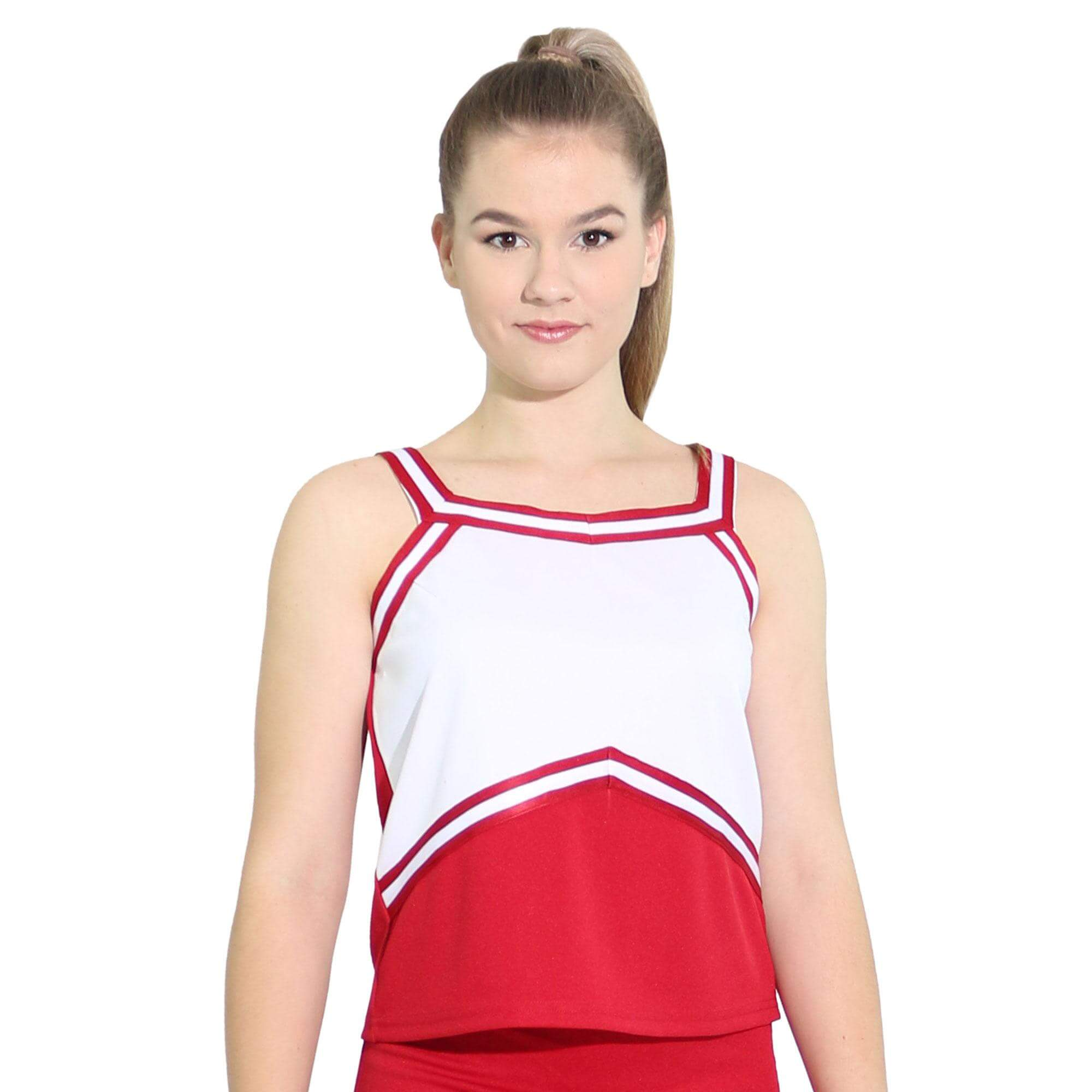 Danzcue Adult Sweetheart Cheerleaders Uniform Shell Top