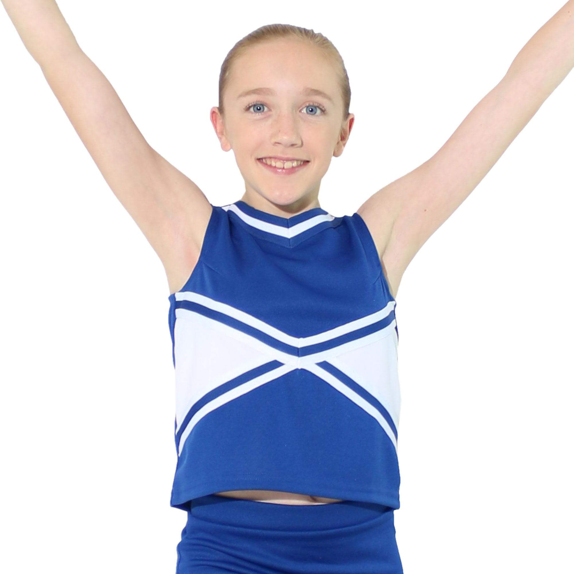 Danzcue Child 2-Color Kick Sweetheart Cheerleaders Uniform Shell Top