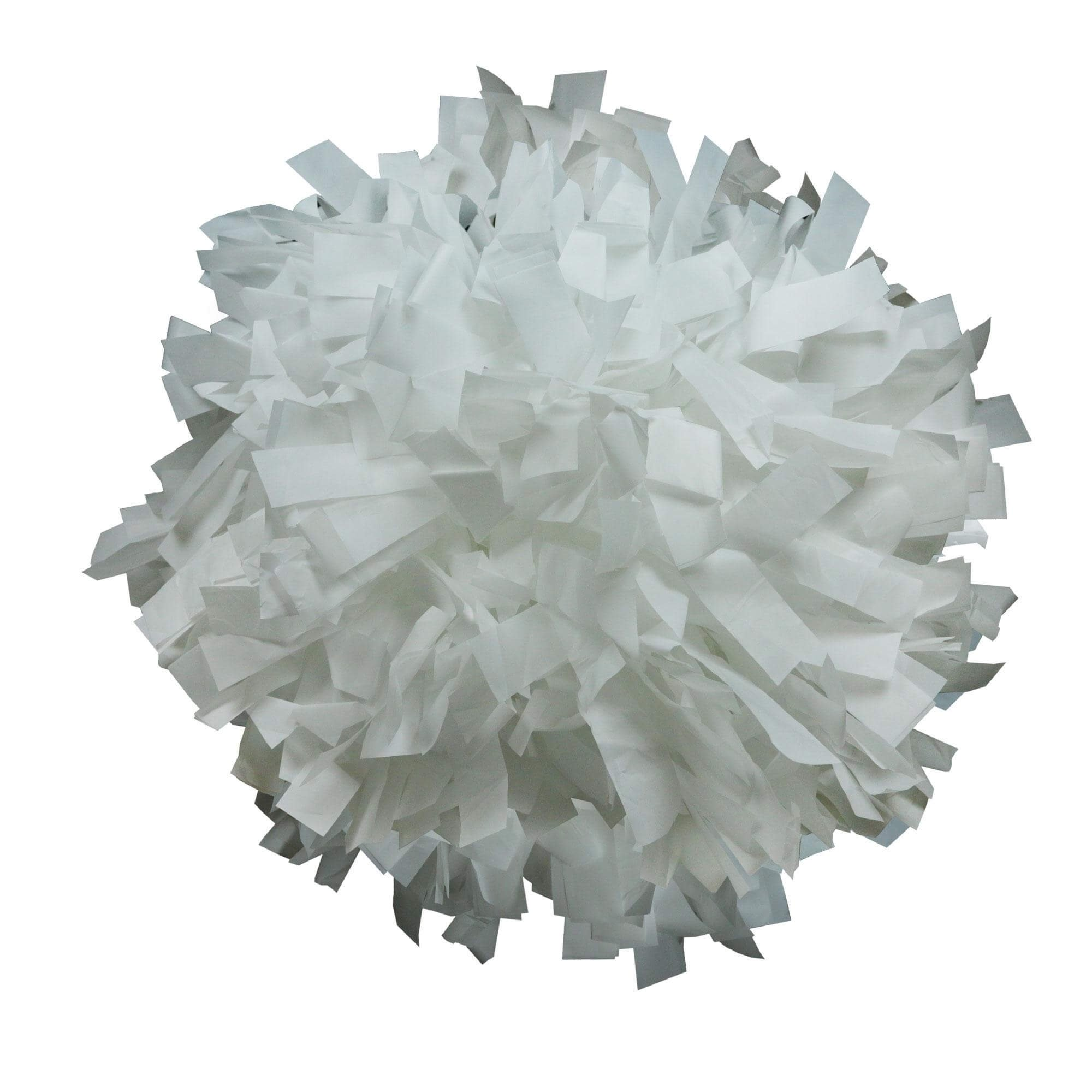 Danzcue White Plastic Poms - One Pair