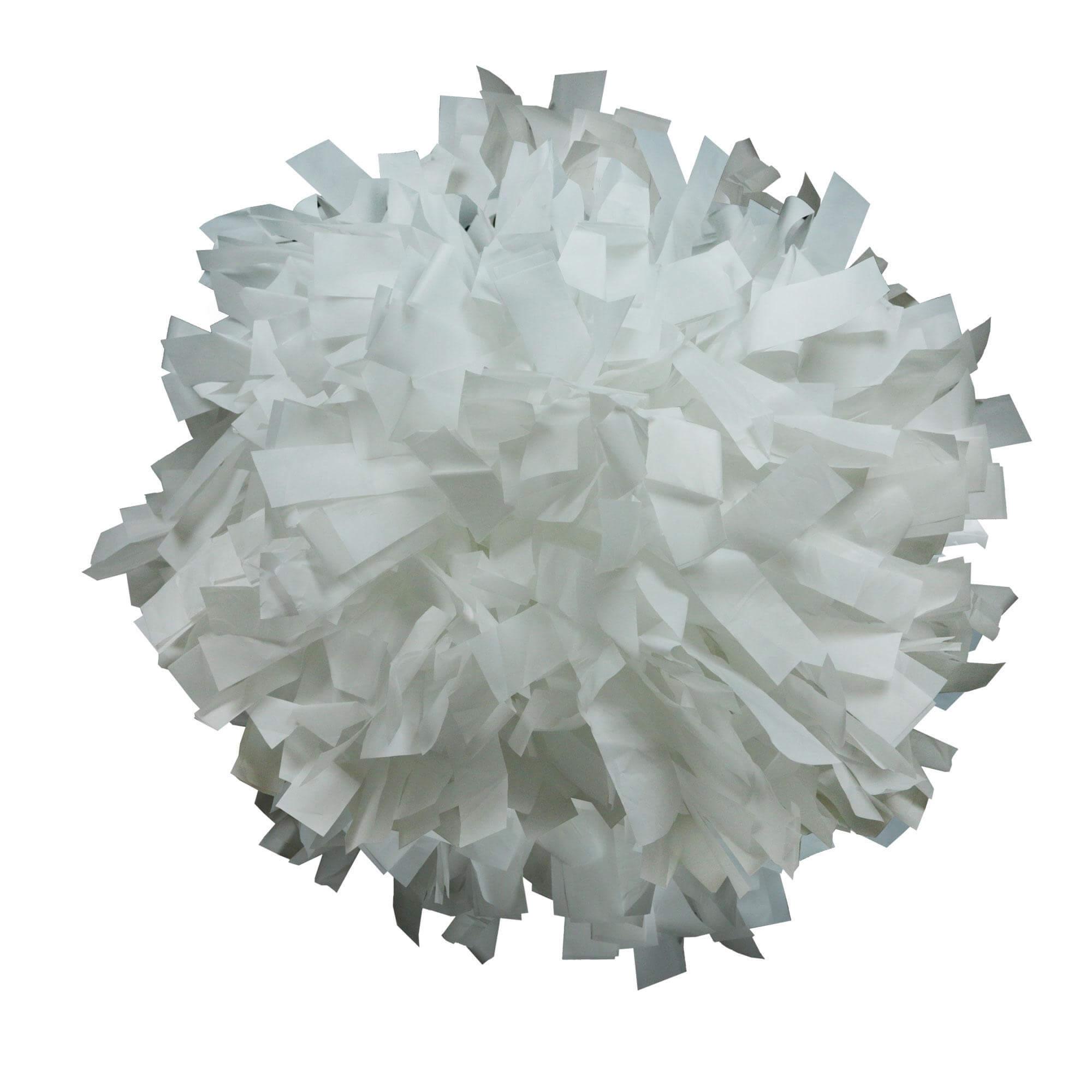 Danzcue White Plastic Poms