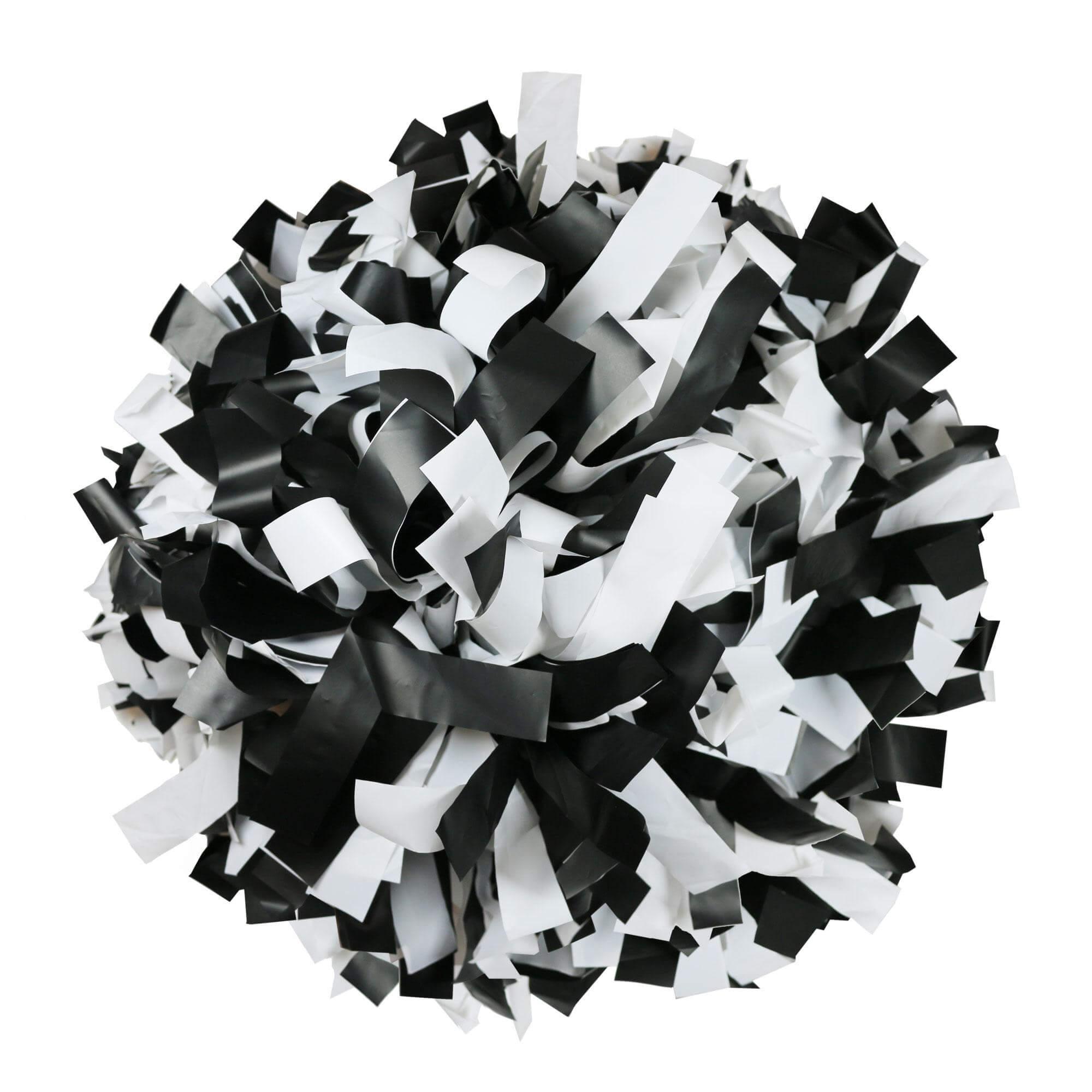 Danzcue Black/White Plastic Poms