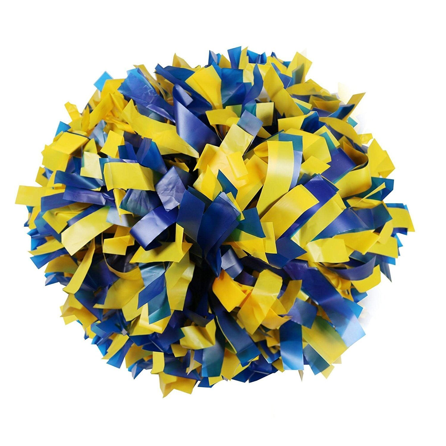 Danzcue 2 Of Royal/gold Plastic Mix Cheerleading Pom