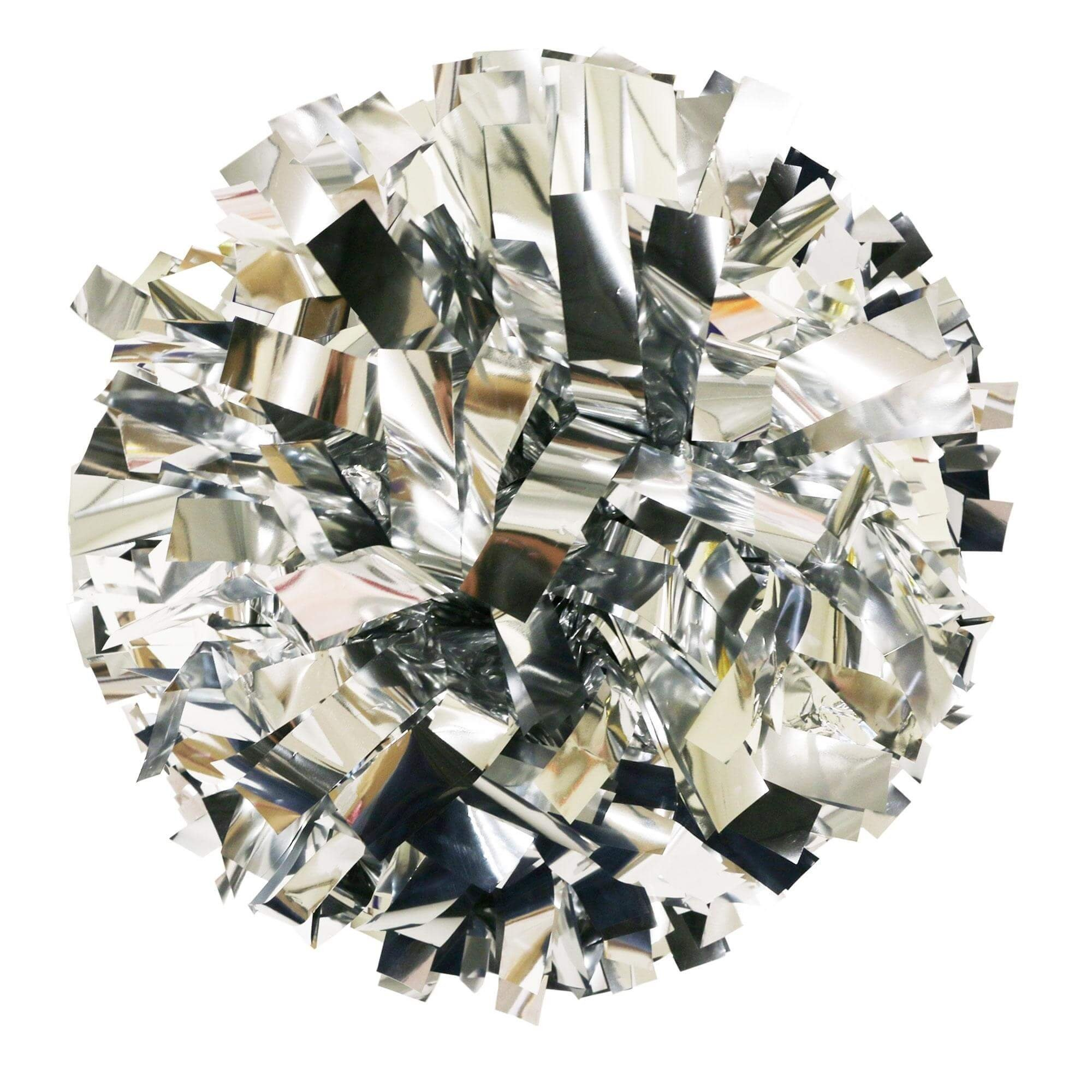 Danzcue Silver Metallic Poms - One Pair