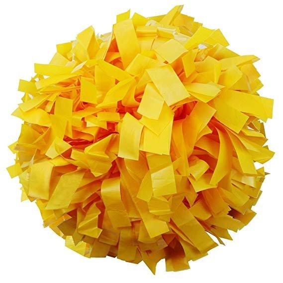 Danzcue 2 Of Gold Plastic Cheerleading Pom