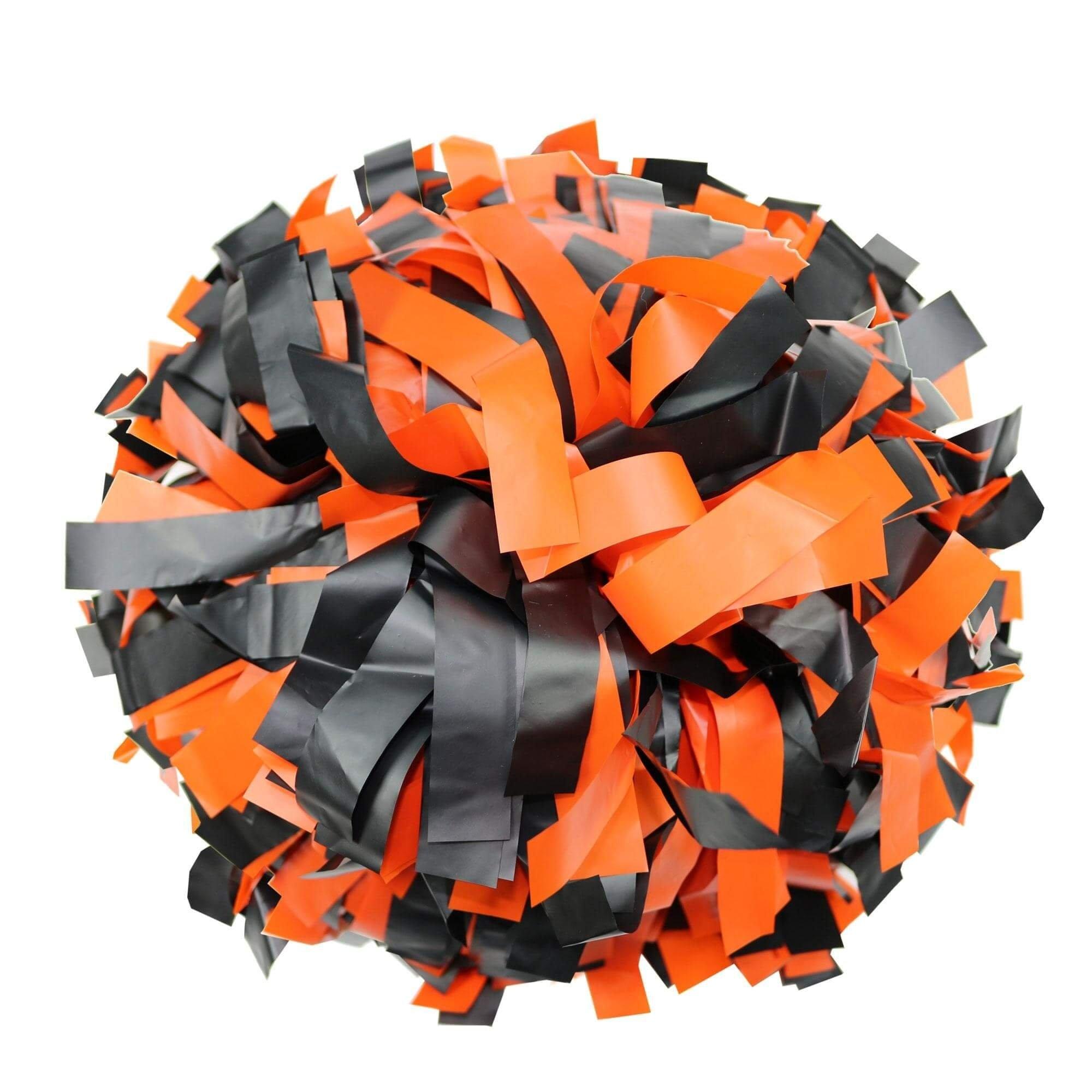 Danzcue Orange/black Plastic Poms - One Pair