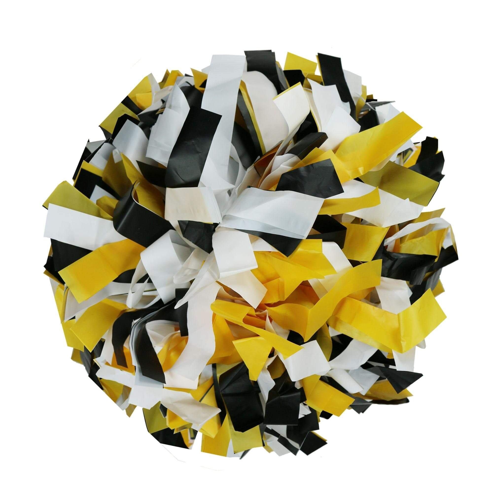 Danzcue Black/gold/white Plastic Poms - One Pair