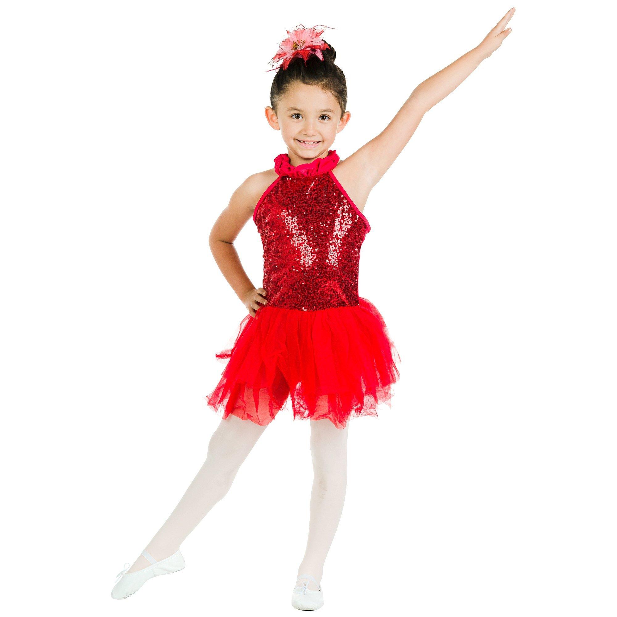 Danzcue Bright Red Sequin Dress
