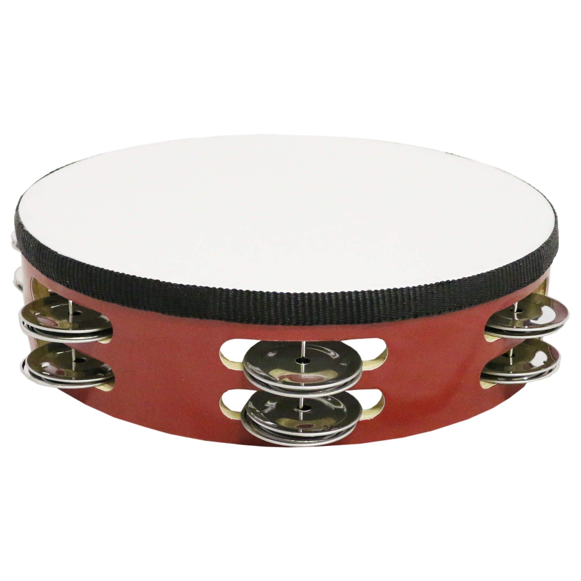 Danzcue 8 Silver/red Double Rows Jingles Tambourine