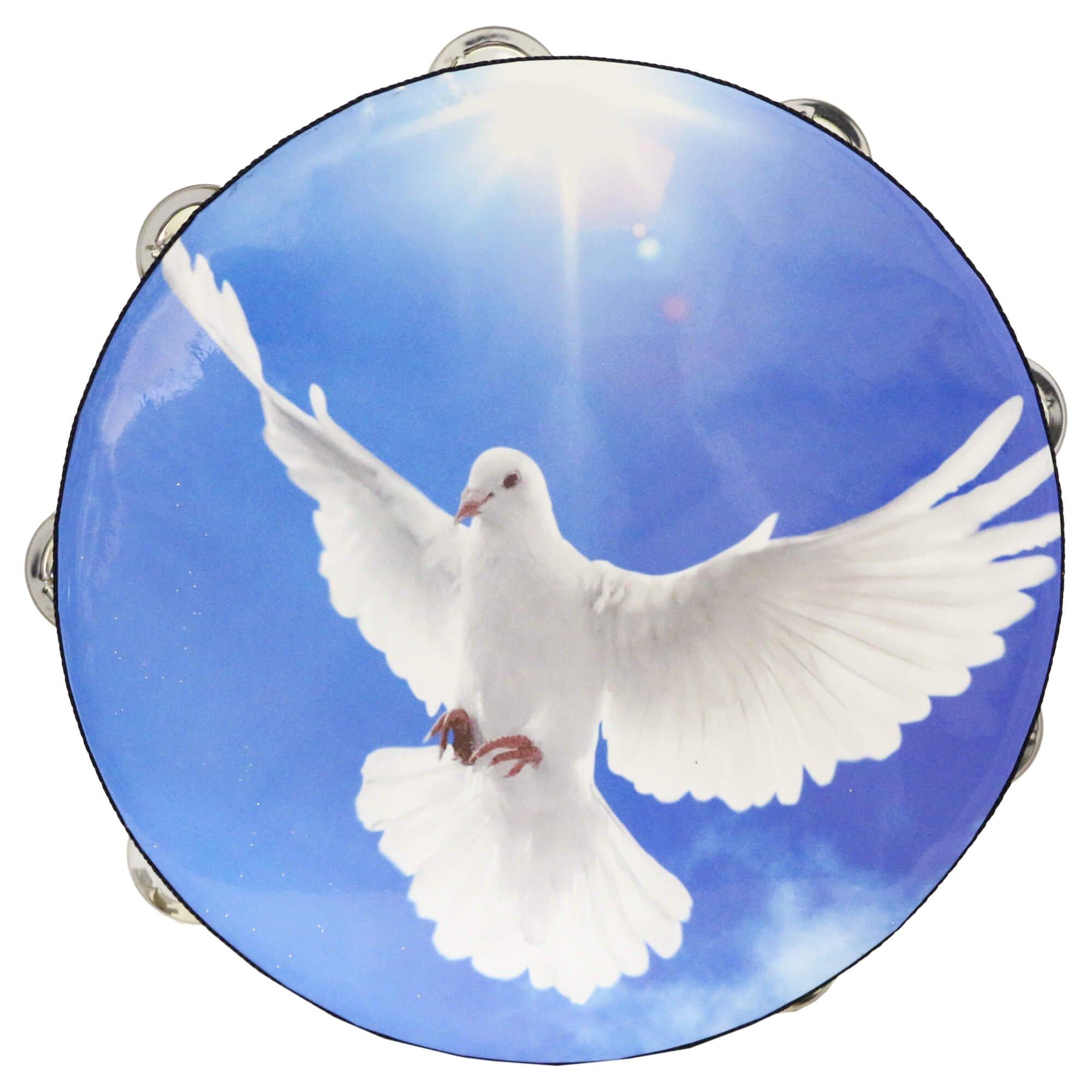 Danzcue Worship Dove Double Rows Jingles Tambourine