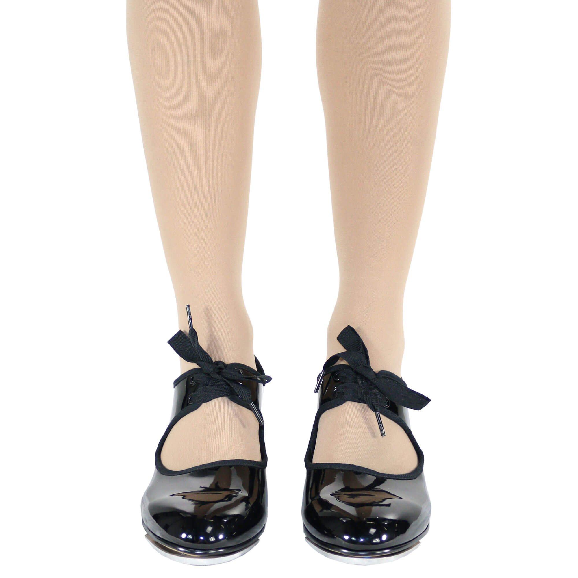 Danzcue Child Patent Flexible Tap Shoes