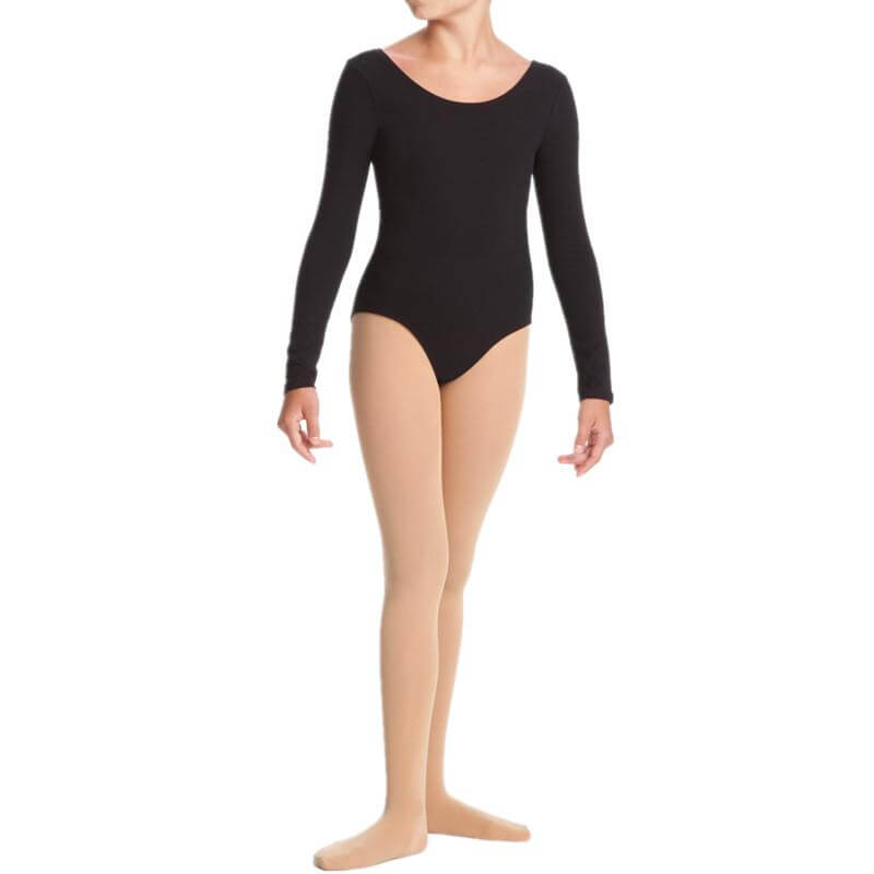 Danskin Girls Dance Basics Long Sleeve Cotton Leotard