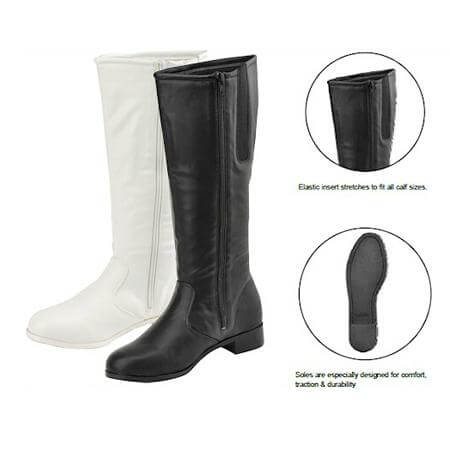 Getz Adult Dallas Knee Hight Boot White