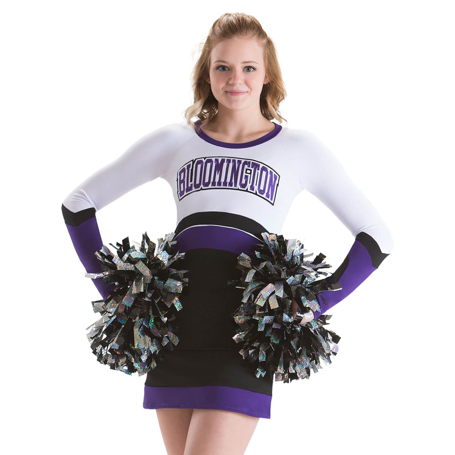 Motionwear Cheerleading Uniforms Long Sleeve Stretch Top