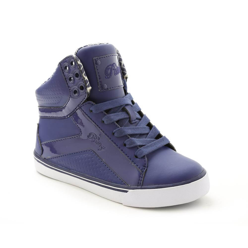 Pastry Pop Tart Grid Girl's Navy Sneaker