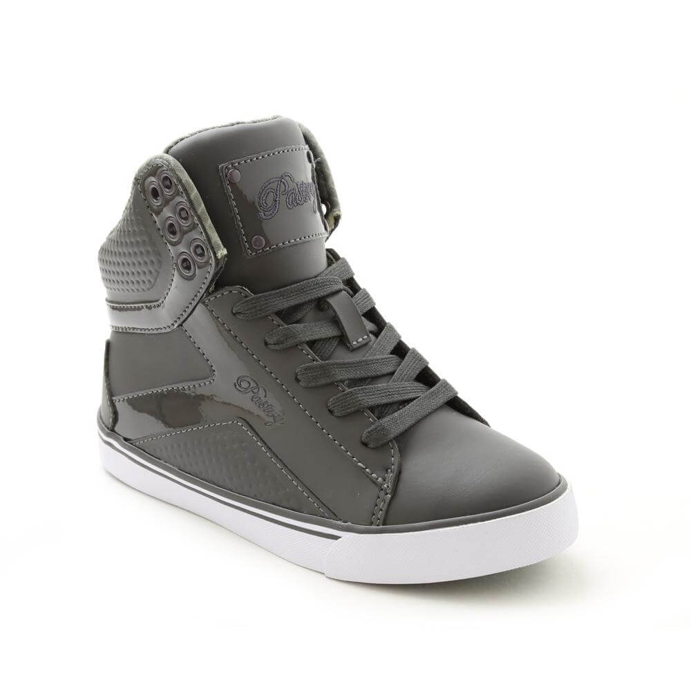 Pastry Pop Tart Grid Girl's Charcoal Sneaker