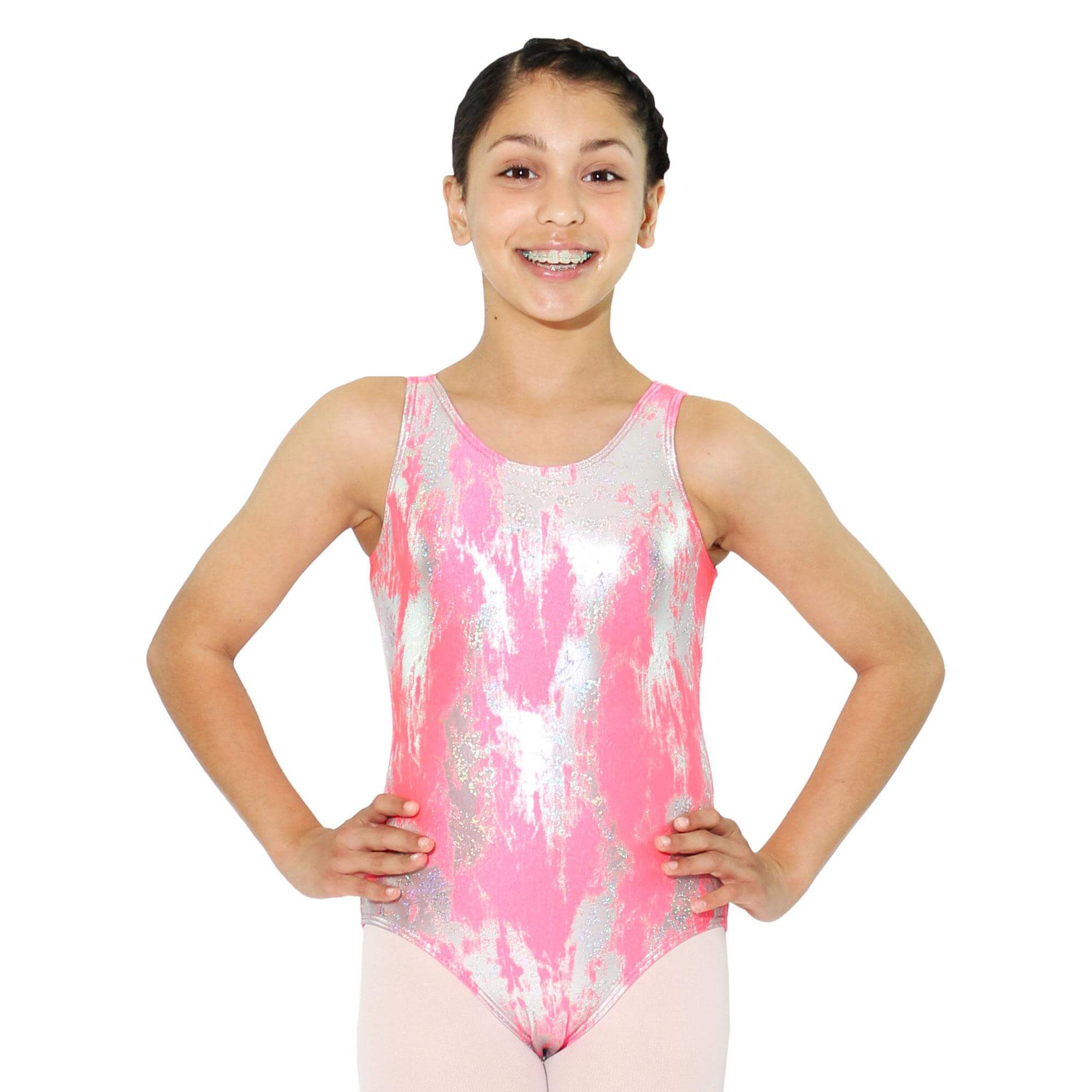 Reflectionz Metallic Splatter Leotard