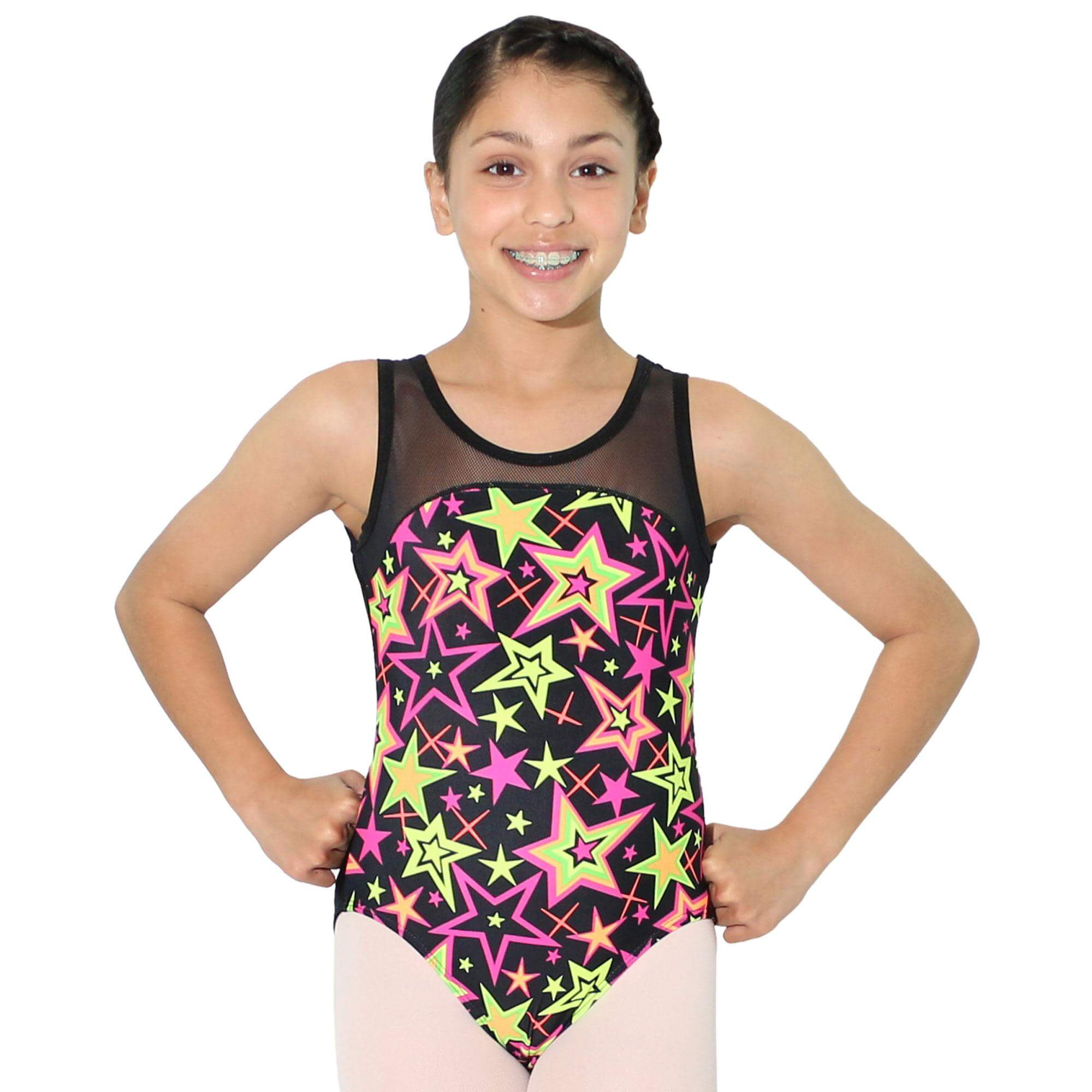 Reflectionz Black Star Leotard