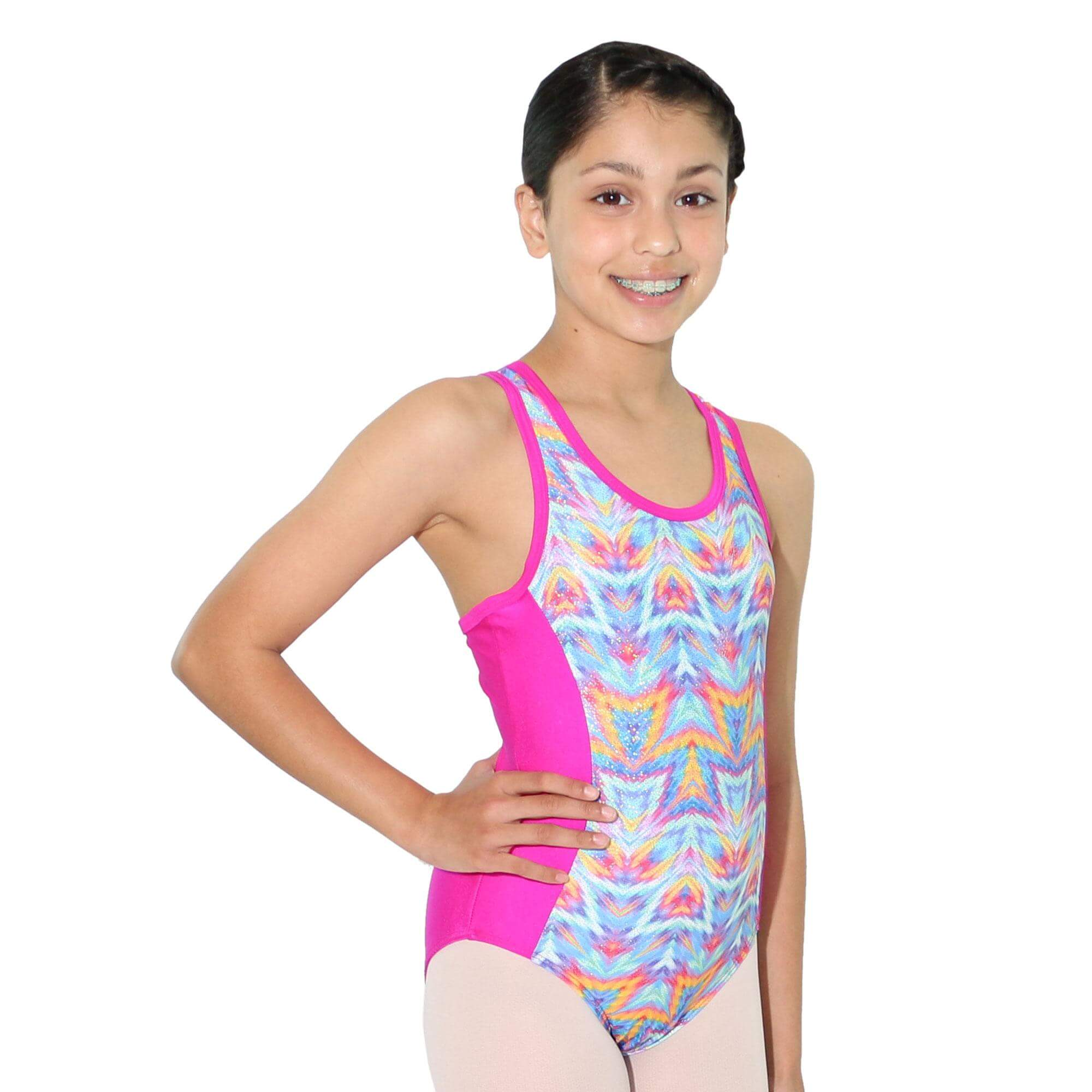 Reflectionz Multi Chevron Leotard
