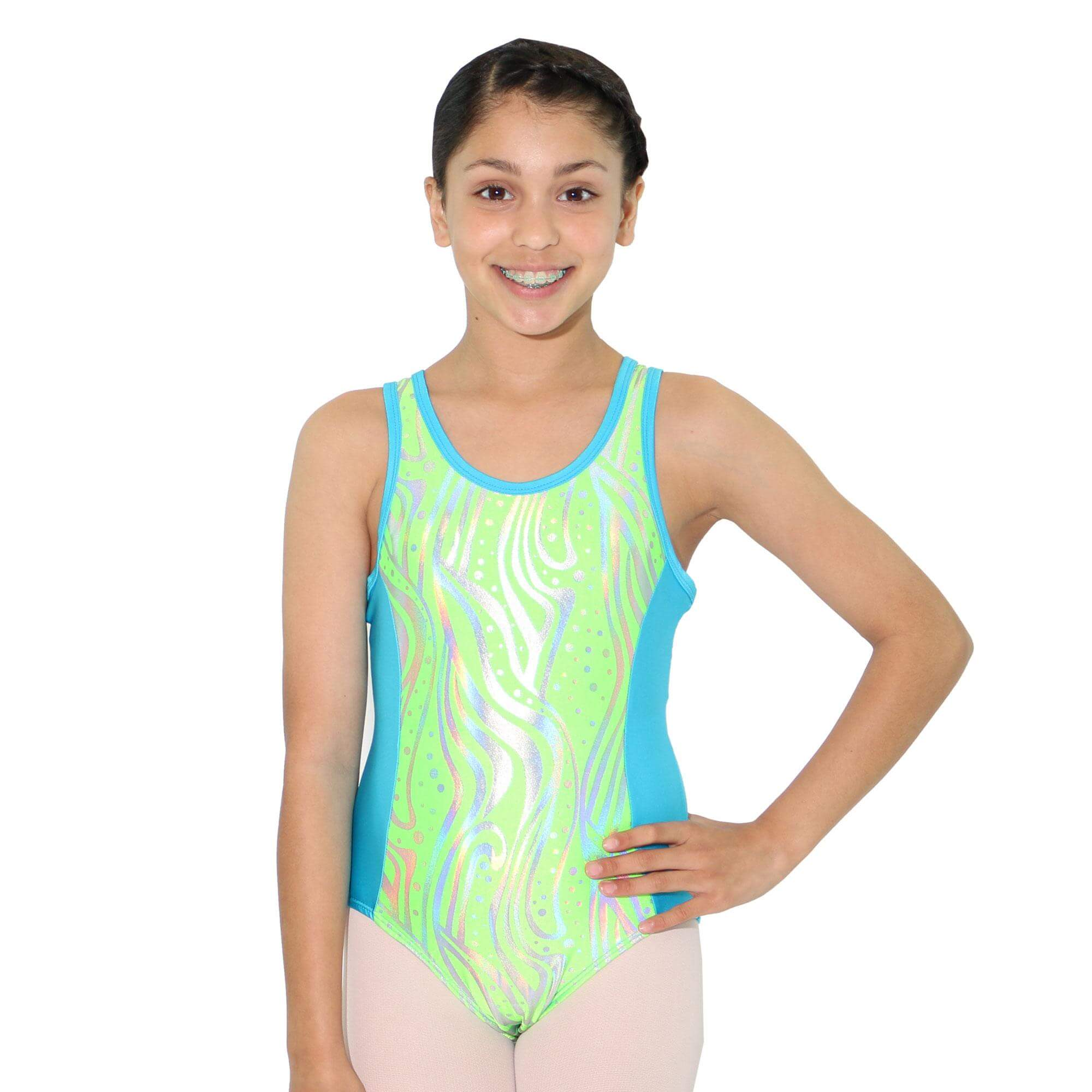 Reflectionz Zebra Dot Leotard