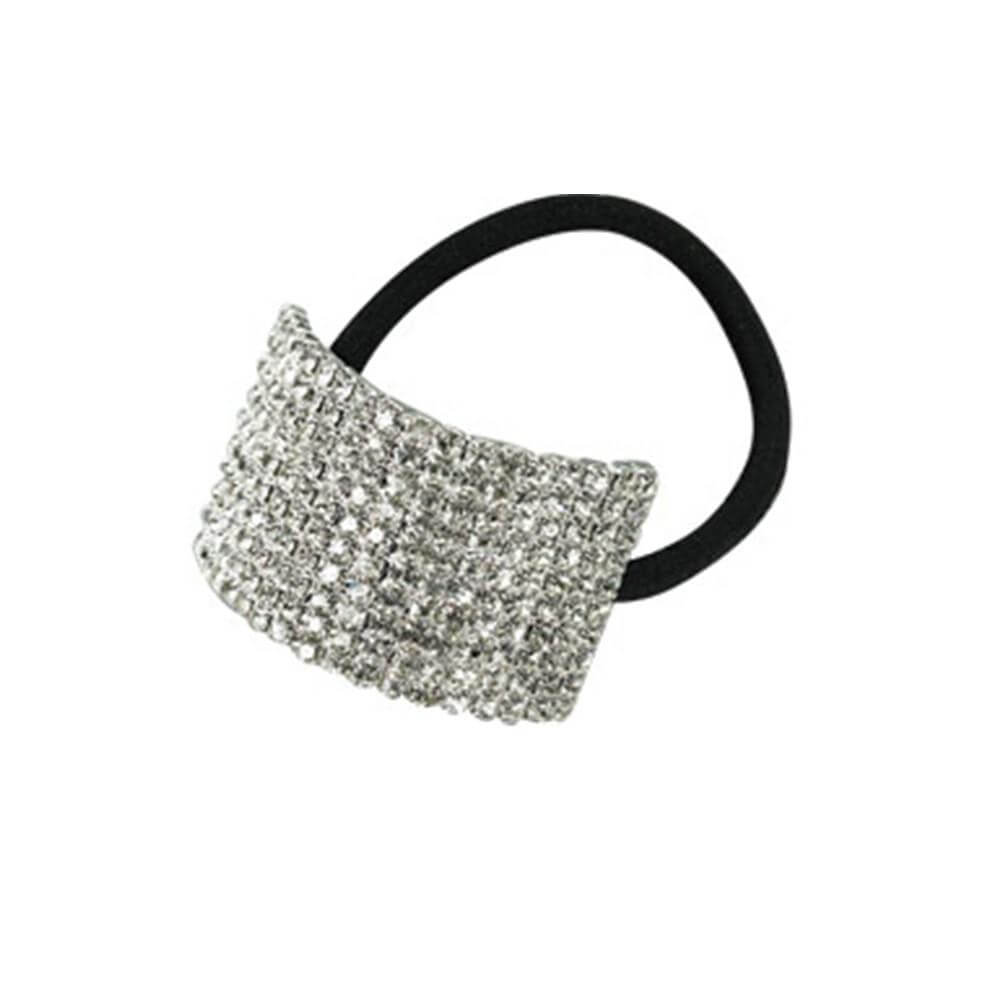 Starlight Child 10-row Crystal Cuff Ponytail Binder