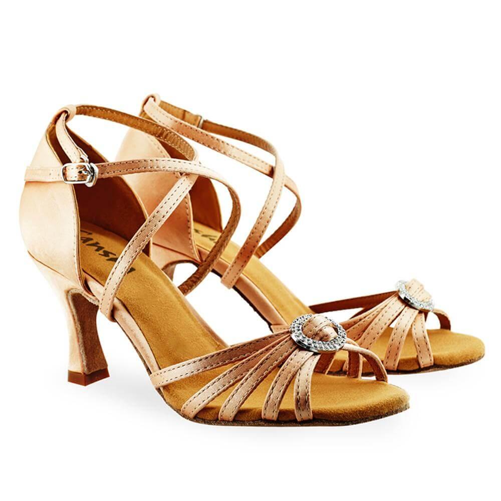Sansha Br30038s Adult 3 Heel Barbara Ballroom Shoe