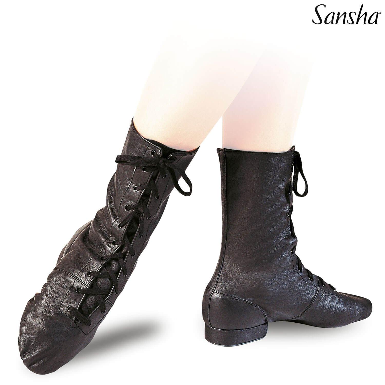 Sansha 1 1/4 Heel Canvas Front Lace-up Cabaret Character Boots