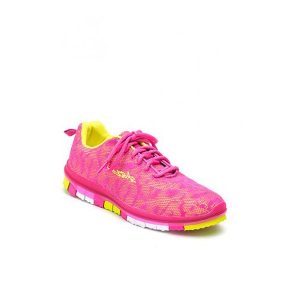 Sansha Fuchsia-yellow Lightweight Flexible Sneaker